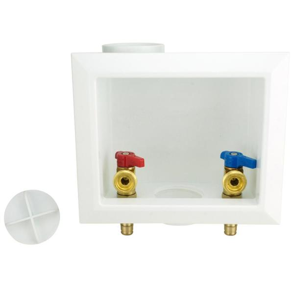 1/2 in. Brass PEX-A Barb x 3/4 in. Male Hose Thread Washing Machine Outlet Box