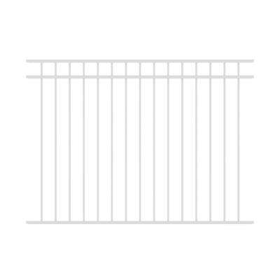 Vinings 4.5 ft. H x 6 ft. W White Aluminum Pre-Assembled Fence Panel