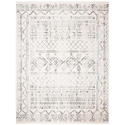 Tulum Ivory/Gray 9 ft. x 12 ft. Area Rug