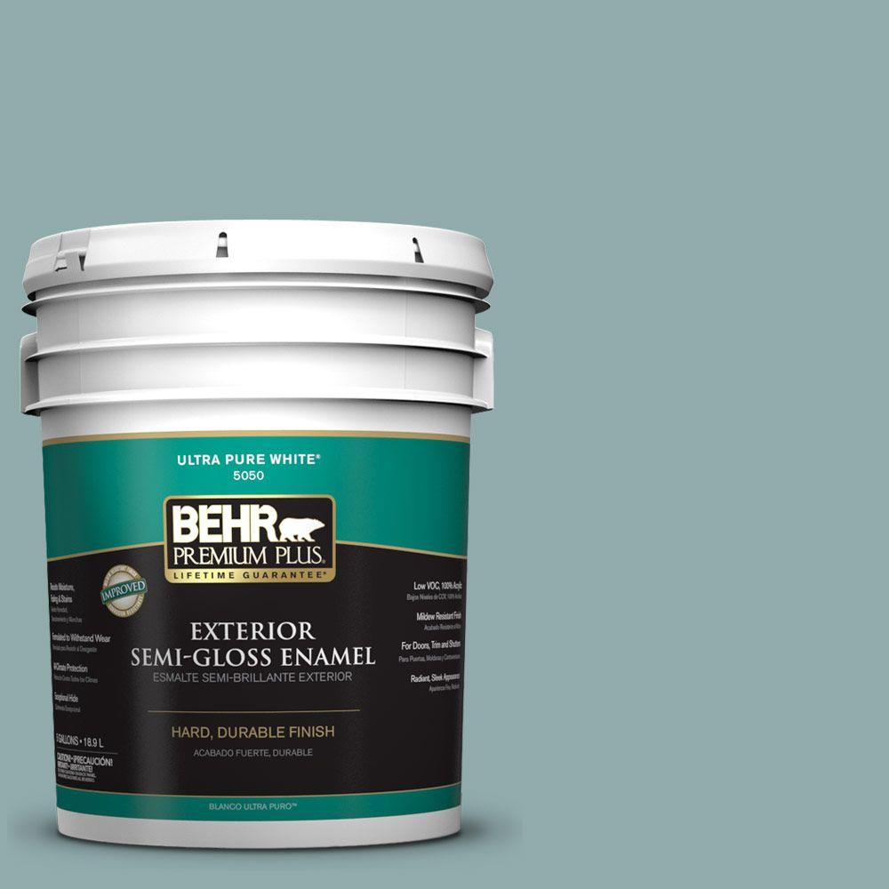 BEHR Premium Plus Home Decorators Collection 5-gal. #HDC-CL-25 Oceanus Semi-Gloss Enamel Exterior Paint