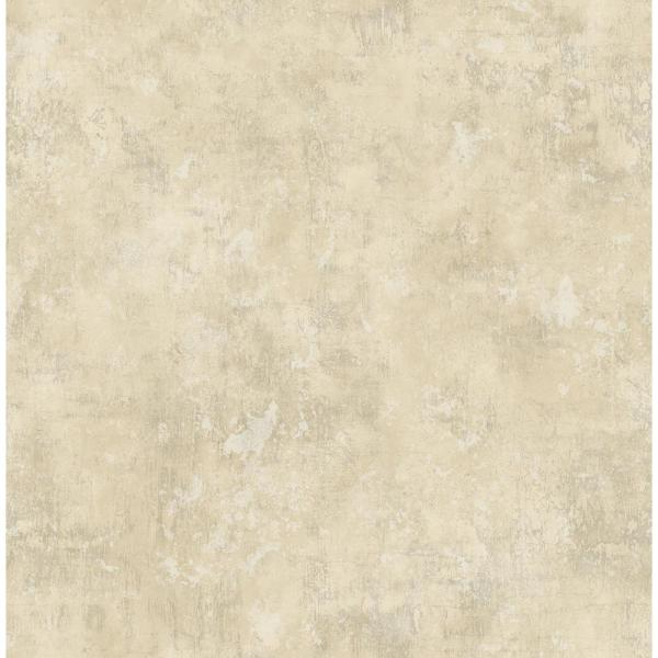 Seabrook Designs Wright Metallic White And Tan Stucco