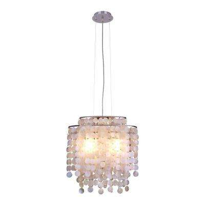 Razzari Collection 2-Light Chrome Oval Pendant