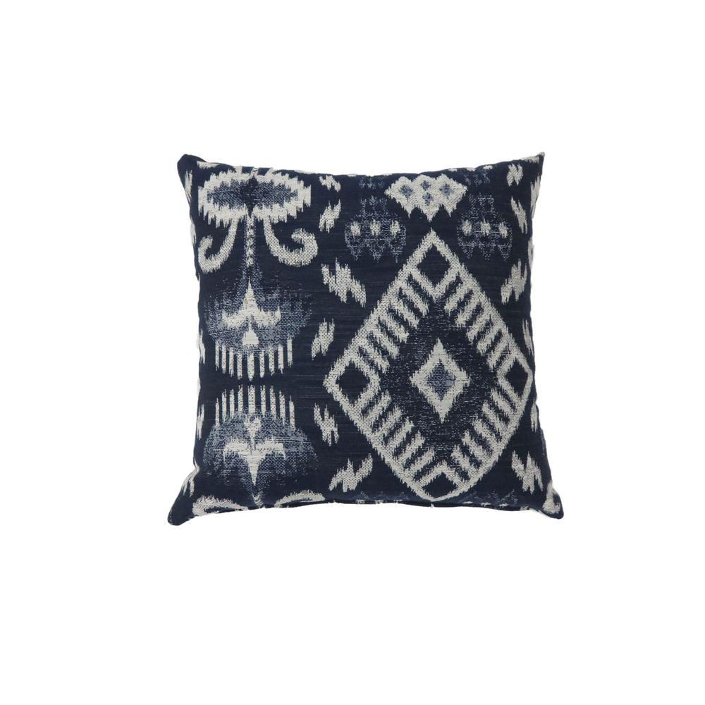 Zena 22 in. Contemporary Throw Pillow in Navy (Pack of 2)