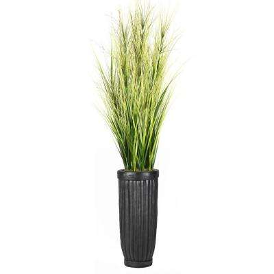 81 in. Tall Onion Grass with Twigs in Planter
