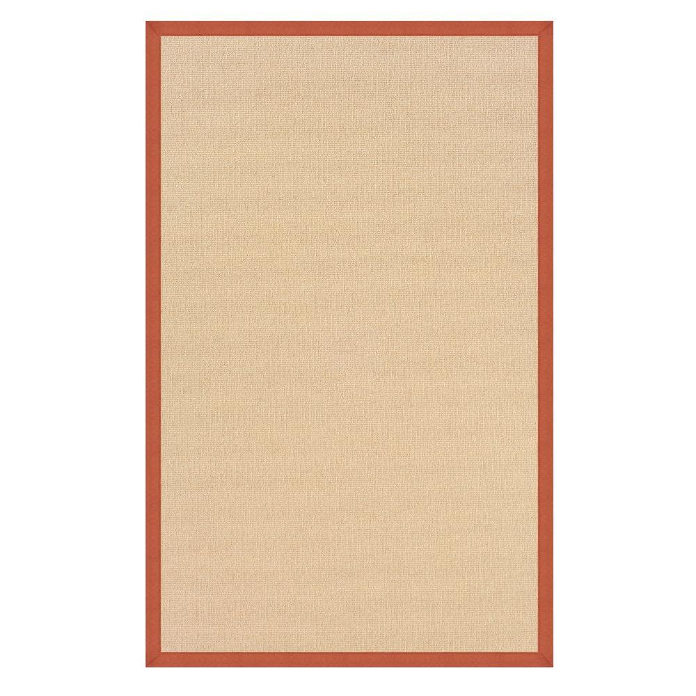 Linon Home Decor Athena Natural and Burnt Orange 8 ft. 9 in. x 12 ft. Area Rug