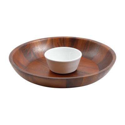 Fruitwood 2-Piece Chip & Dip Serving Set