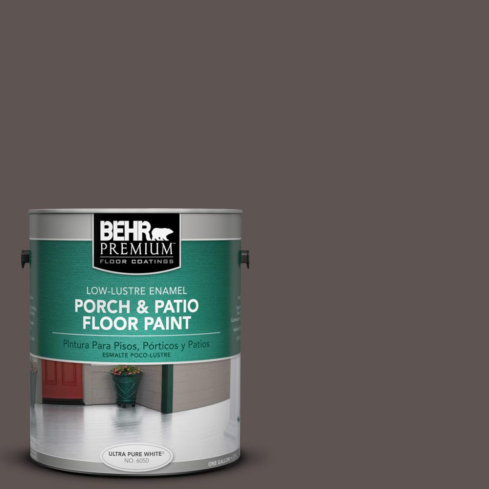 1 gal. #N140-7 Timber Brown Low-Lustre Interior/Exterior Porch and Patio Floor