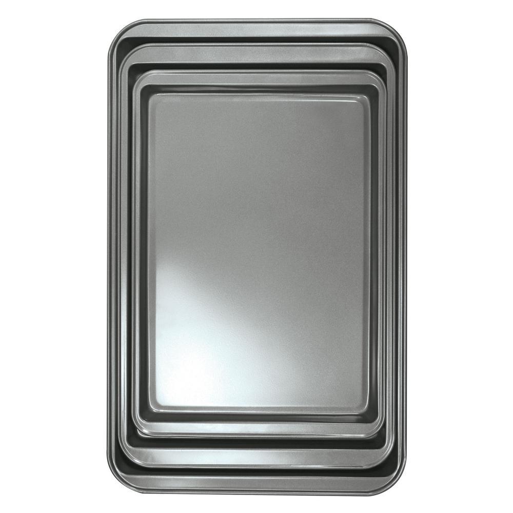 BakeIns 3-Piece Carbon Steel Cookie Sheet Set