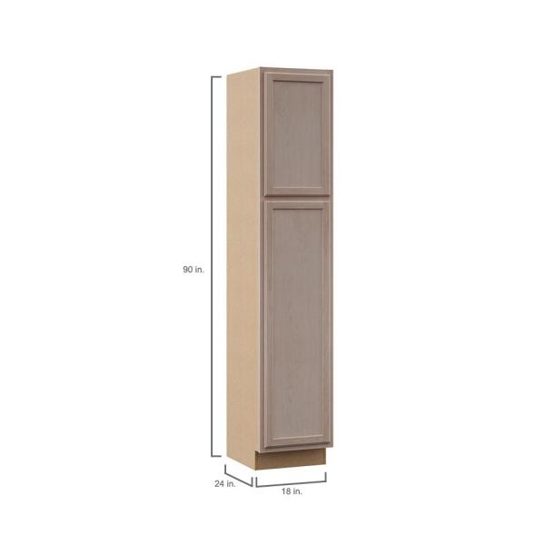 Hampton Bay Hampton Assembled 18x90x24 In Pantry Utility Cabinet In Unfinished Beech Kp1890 Uf The Home Depot