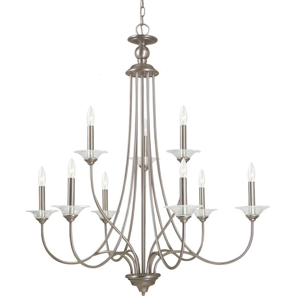 Lemont 9-Light Antique Brushed Nickel Single Tier Chandelier
