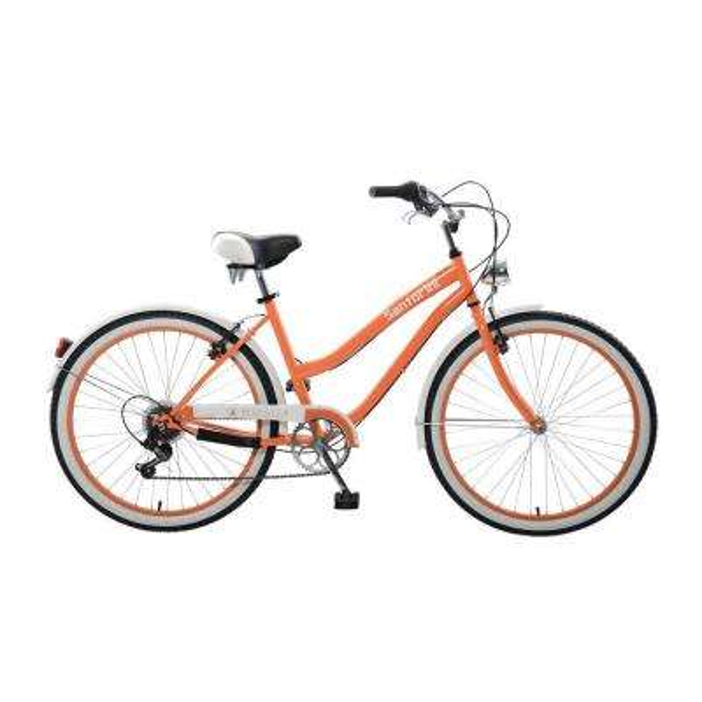 Santorini Cruiser 26 in. Wheels Oversized Frame Women's Bike in Orange