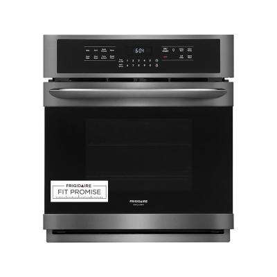 27 in. Single Electric Wall Oven with True Convection Self-Cleaning in Black Stainless Steel