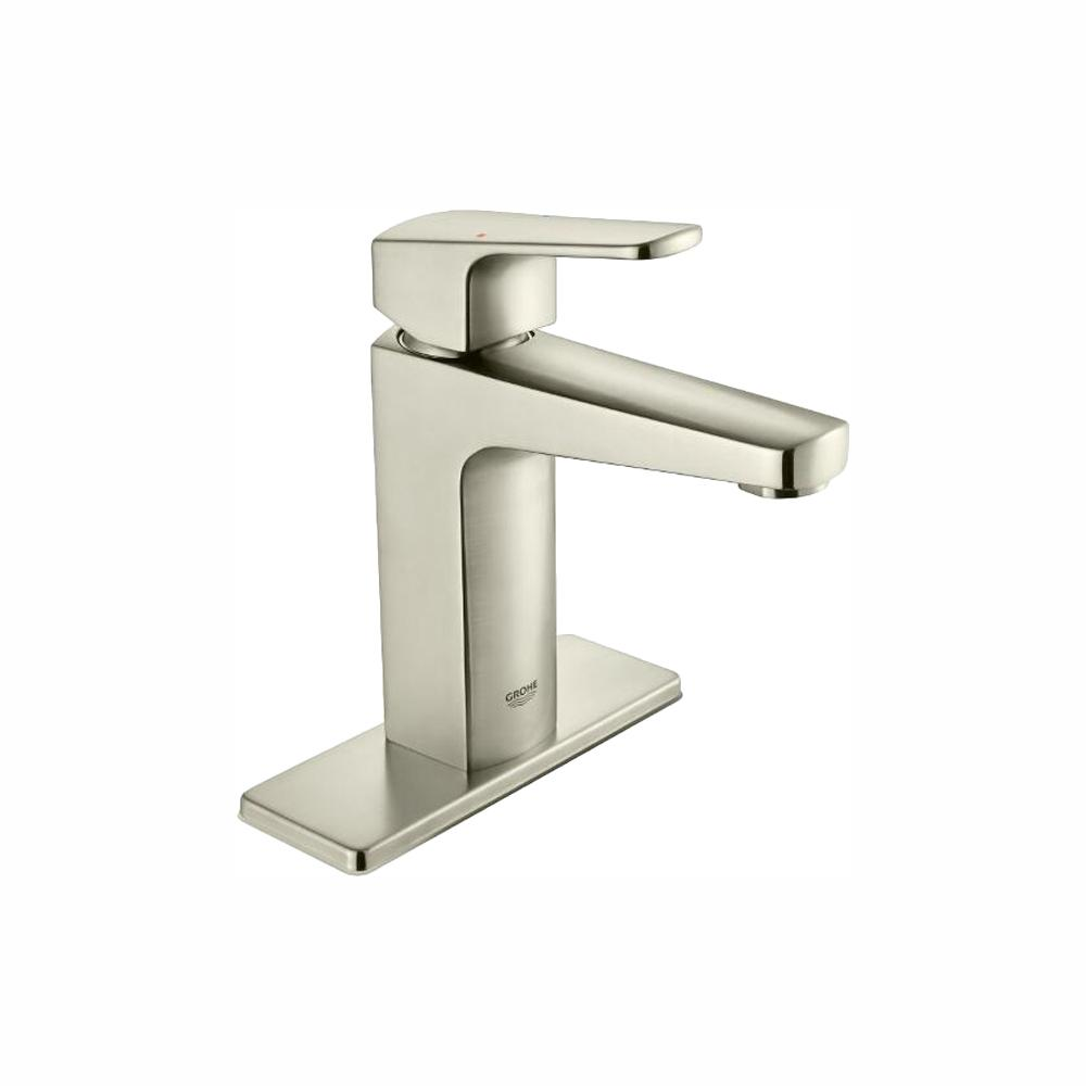 GROHE Tallinn 4 in. Centerset Single-Handle Bathroom Faucet in Brushed Nickel Infinity