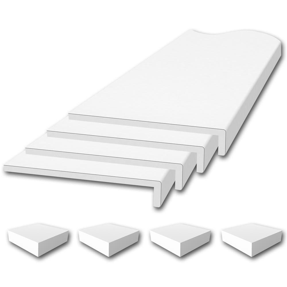 Flexstone Window Sill Trim Kit In White Flxwtk648r4wh The Home Depot