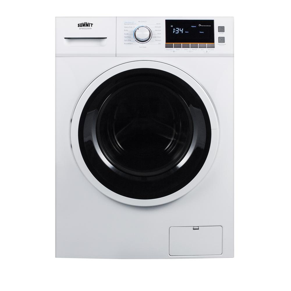 SUMMIT 2 cu. ft. All-in-One Washer and Electric Ventless Dryer in ...