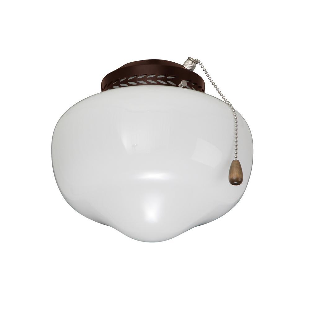 Schoolhouse Globe Oil Rubbed Bronze Ceiling Fan Light Kit