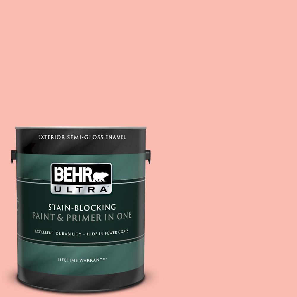 Behr Ultra 1 Gal 190c 3 Sweet Nectar Semi Gloss Enamel Exterior Paint And Primer In One 585401 The Home Depot