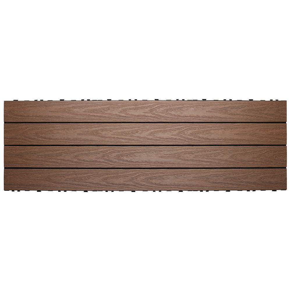 UltraShield Naturale 1 ft. x 3 ft. Quick Deck Outdoor Composite Deck Tile in Brazilian Ipe (15 sq. ft. Per Box)