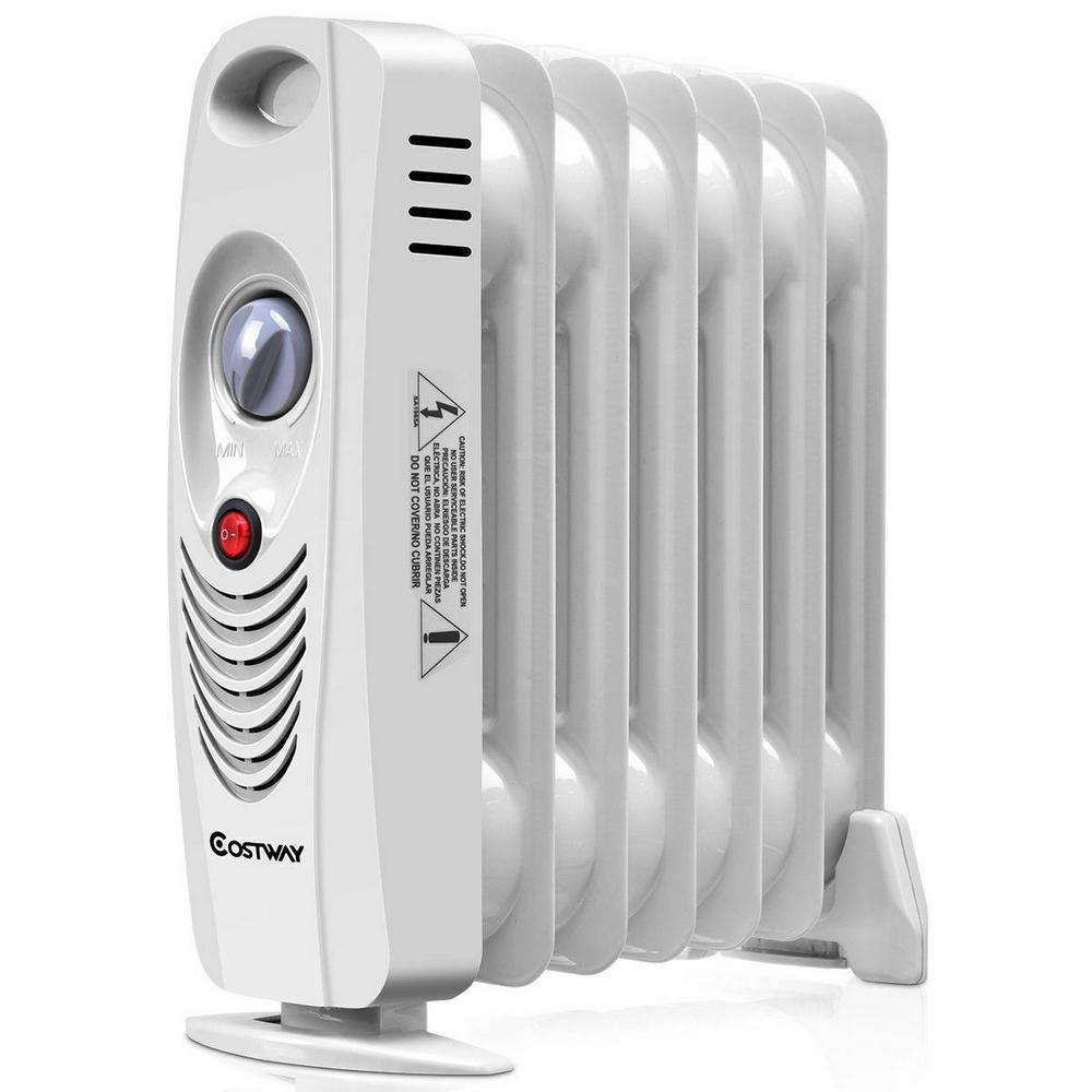 700-Watt Portable Mini Electric Oil-Filled Radiator Heater Space Heater Safe Room ComforTemp