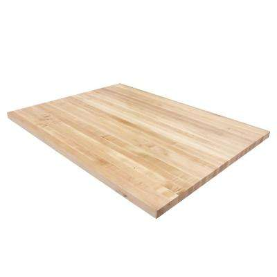 4 ft. L x 3 ft. D x 1.5 in. T Butcher Block Countertop in Finished Maple