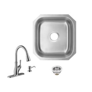 Ticor Foster Undermount 18 Gauge Stainless Steel 31 25 In Double Bowl Kitchen Sink With Basket Strainer L13 The Home Depot