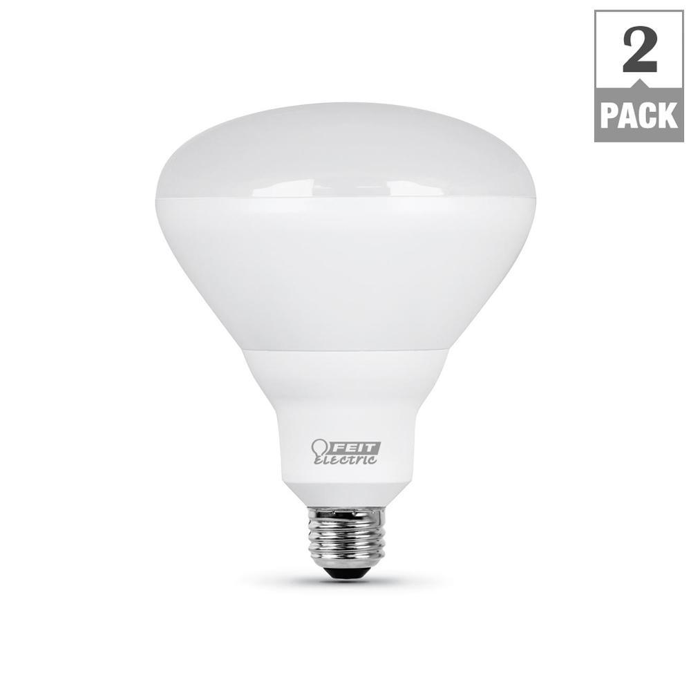 65-Watt Equivalent BR40 Dimmable CEC LED ENERGY STAR 90+ CRI Flood Light Bulb, Daylight (2-Pack)