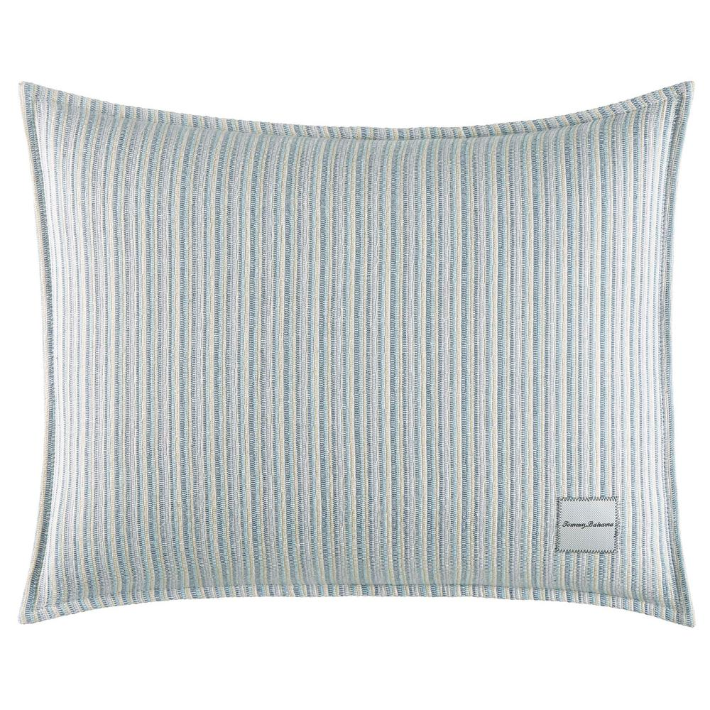 La Prisma Stripe Texture Oblong 16 in. x 20 in. Throw Pillow, Green The Tommy Bahama La Prisma Stripe Throw Pillow adds instant relaxation and style to your sleep space. Supremely soft in pure cotton, the beautiful textured stripe weave creates a cool and refreshing look reminiscent of ocean waves. Dimensions: (16 in. x 20 in.). Color: Green.
