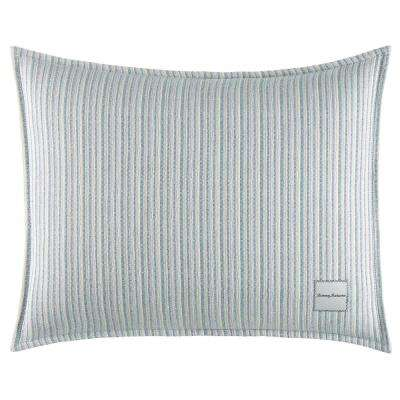 La Prisma Stripe Texture Oblong 16 in. x 20 in. Throw Pillow