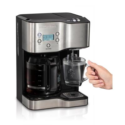 Hamilton Beach-12-Cup Programmable Black Coffee Maker with Hot Water Dispenser
