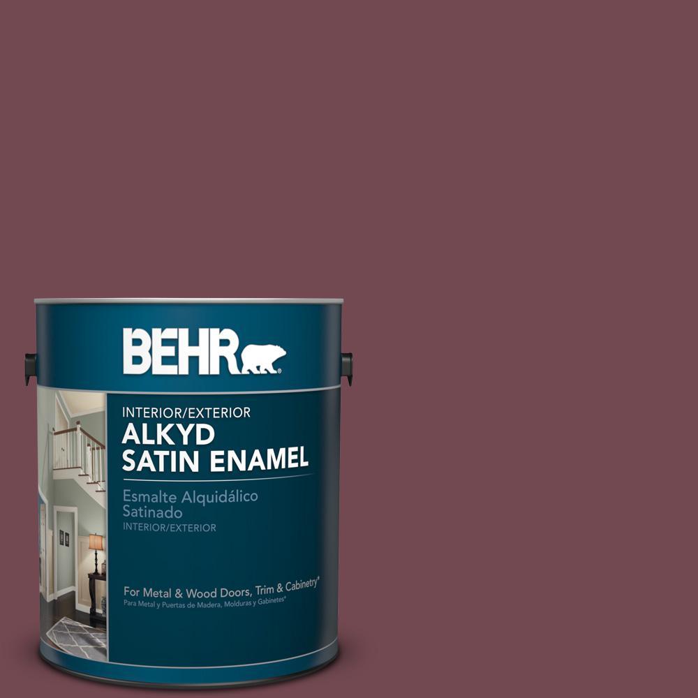 1 gal. #HDC-CL-12 Terrace Brown Satin Enamel Alkyd Interior/Exterior Paint