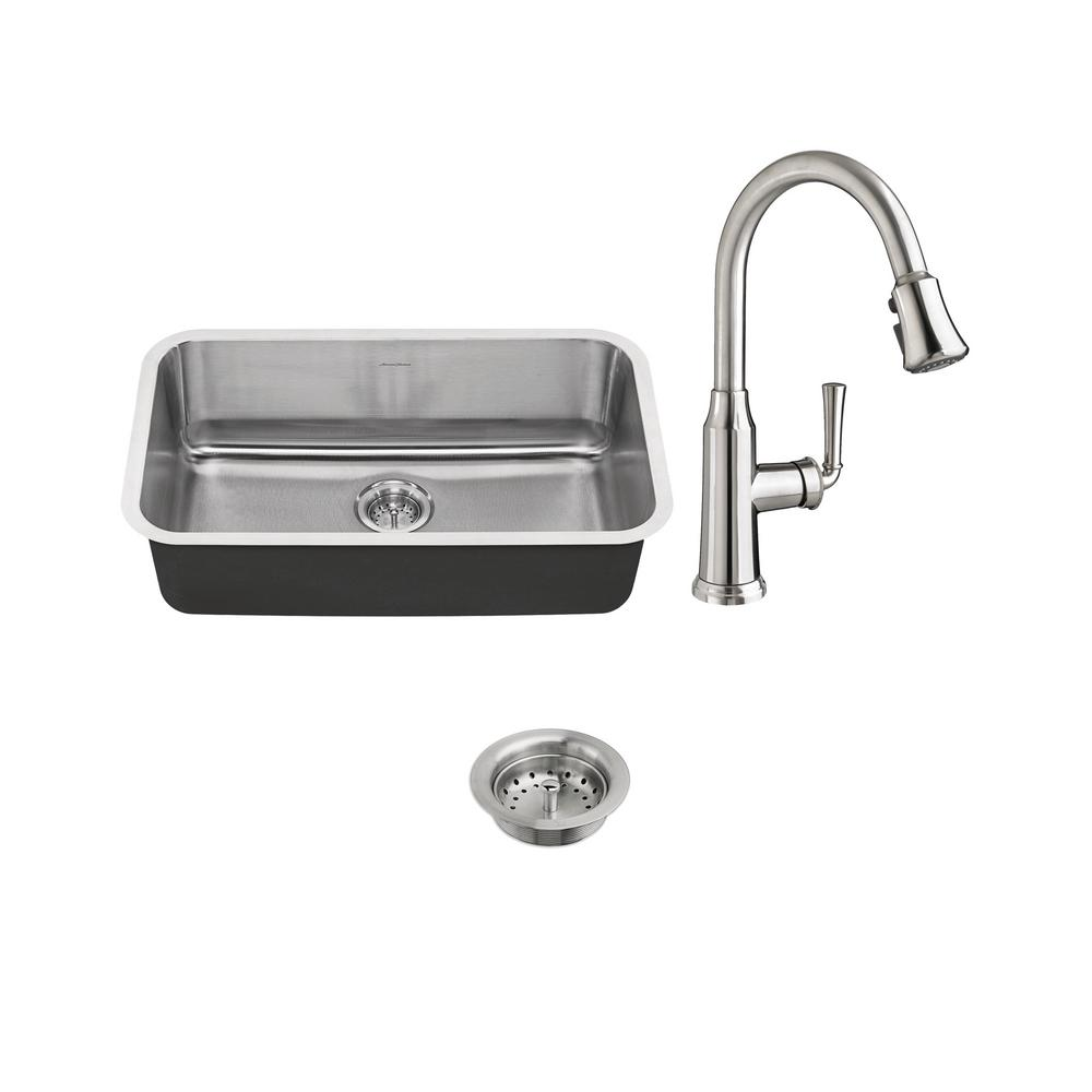 American Standard Portsmouth All-in-One Undermount Stainless Steel ...