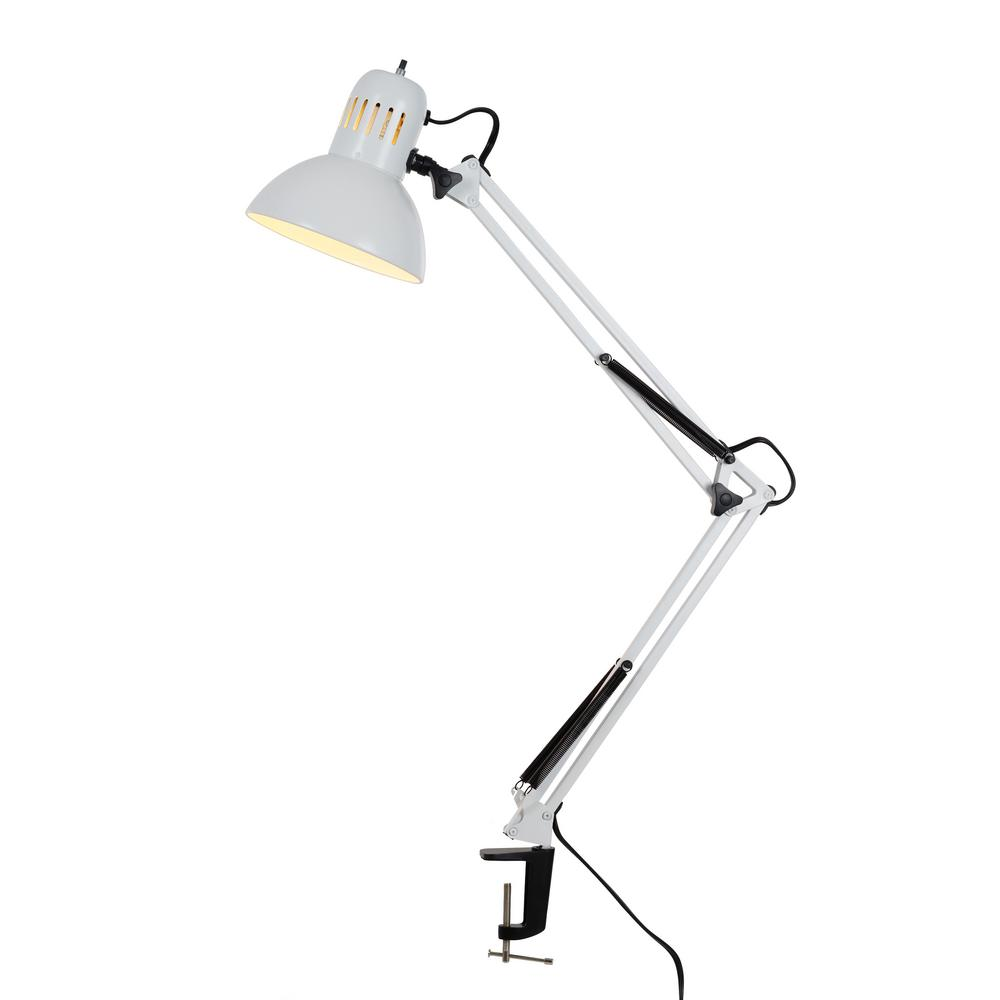 Swing Arm Desk Lamp With Metal Clamp