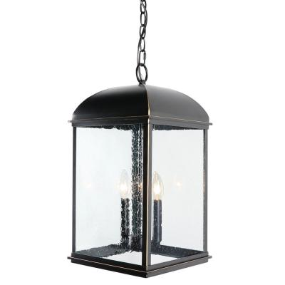 2 Light 19.5 in. Outdoor Hanging Lantern in Imperial Black