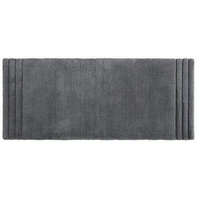 Empress 24 in. x 60 in. Cotton Runner Bath Rug in Pewter