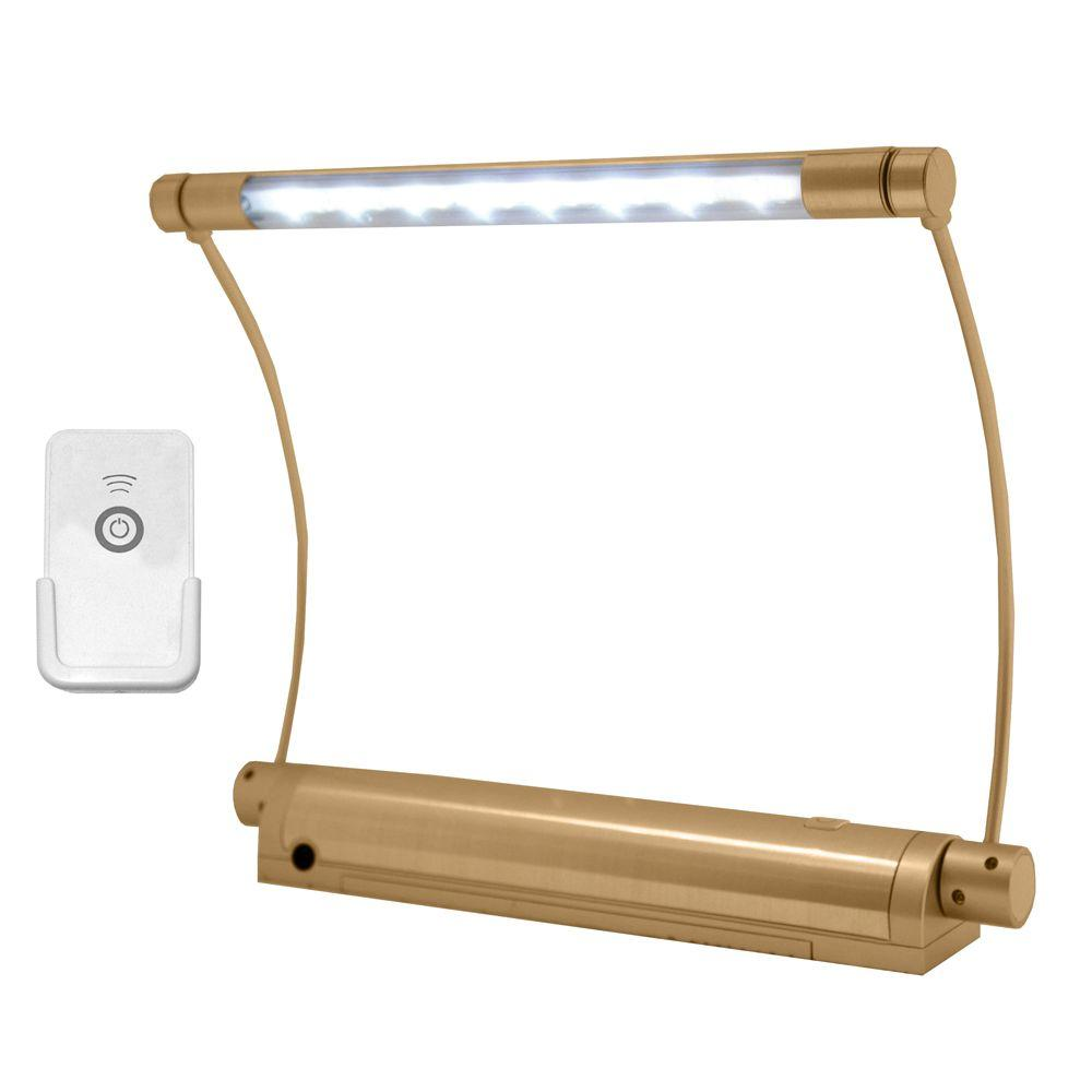 Rite Lite Wireless Gold 8-LED Picture Light with Remote Control