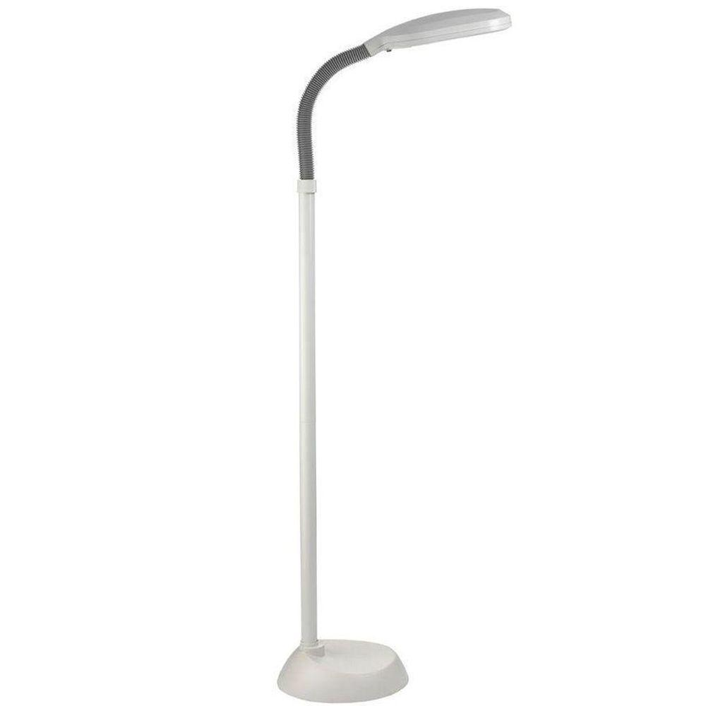 Daylight lamps lighting the home depot white flexible floor lamp aloadofball Images