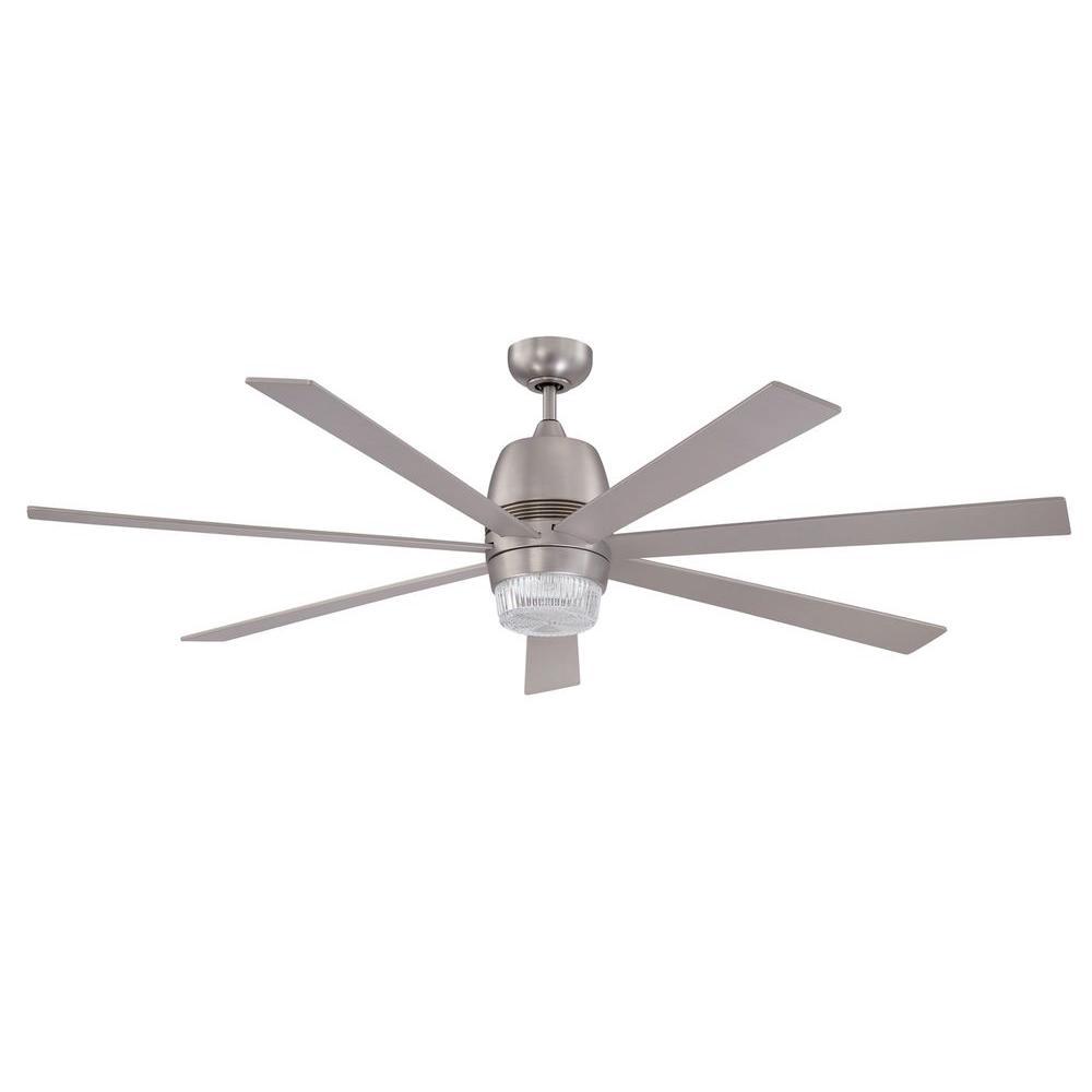 Nebulon 60 in. Satin Nickel Ceiling Fan
