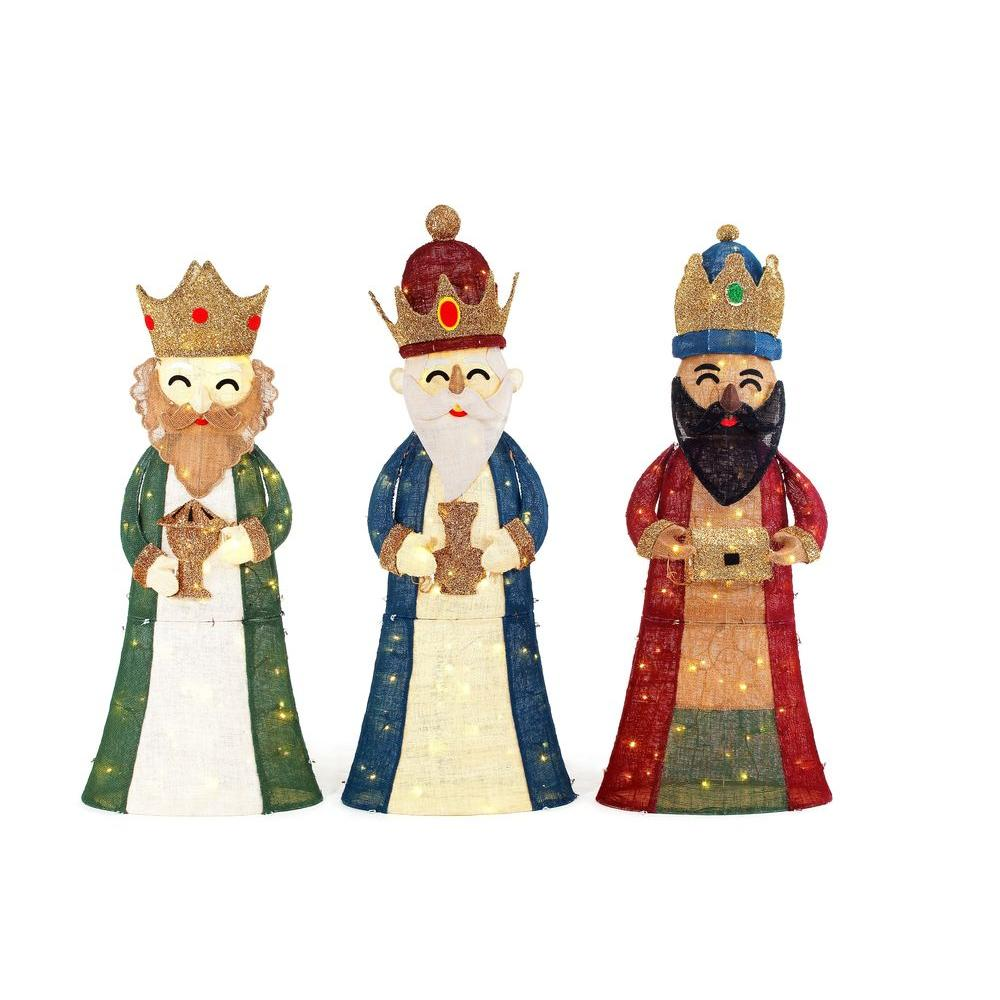 Home Accents Holiday 52 in. LED Lighted 3 Wiseman (3-Piece)