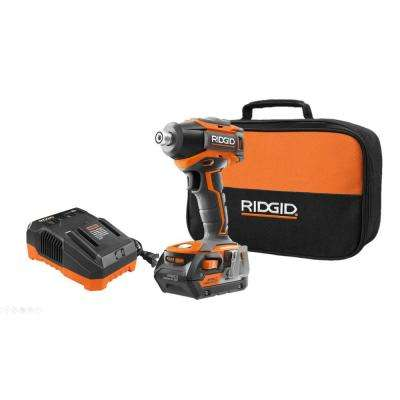 18-Volt Lithium-Ion Cordless Brushless 1/4 in. Impact Driver with 4.0 Ah Lithium-Ion Battery, Charger and Contractor Bag