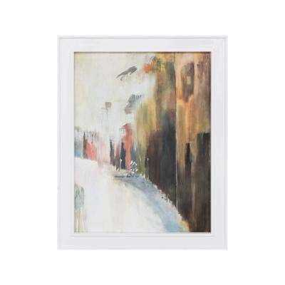 "43 in. x 33 in. ""Euro Streets"" Hand Painted Framed Canvas Wall Art"