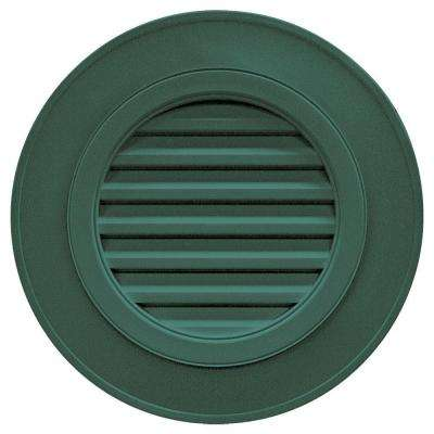 28 in. Round Gable Vent in Forest Green (without Keystones)