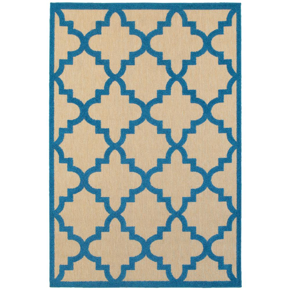 Marina Blue 6 ft. 7 in. x 9 ft. 6 in.