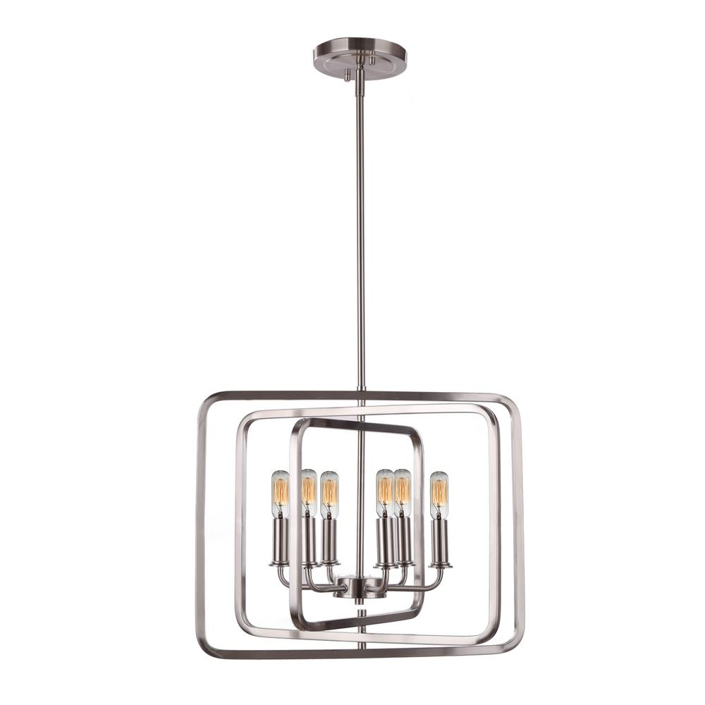 DSI Catherine 6-Light Chrome Pendant
