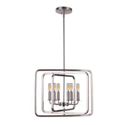 Catherine 6-Light Chrome Pendant