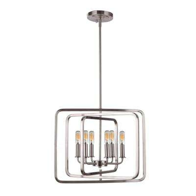6-Light Chrome Pendant