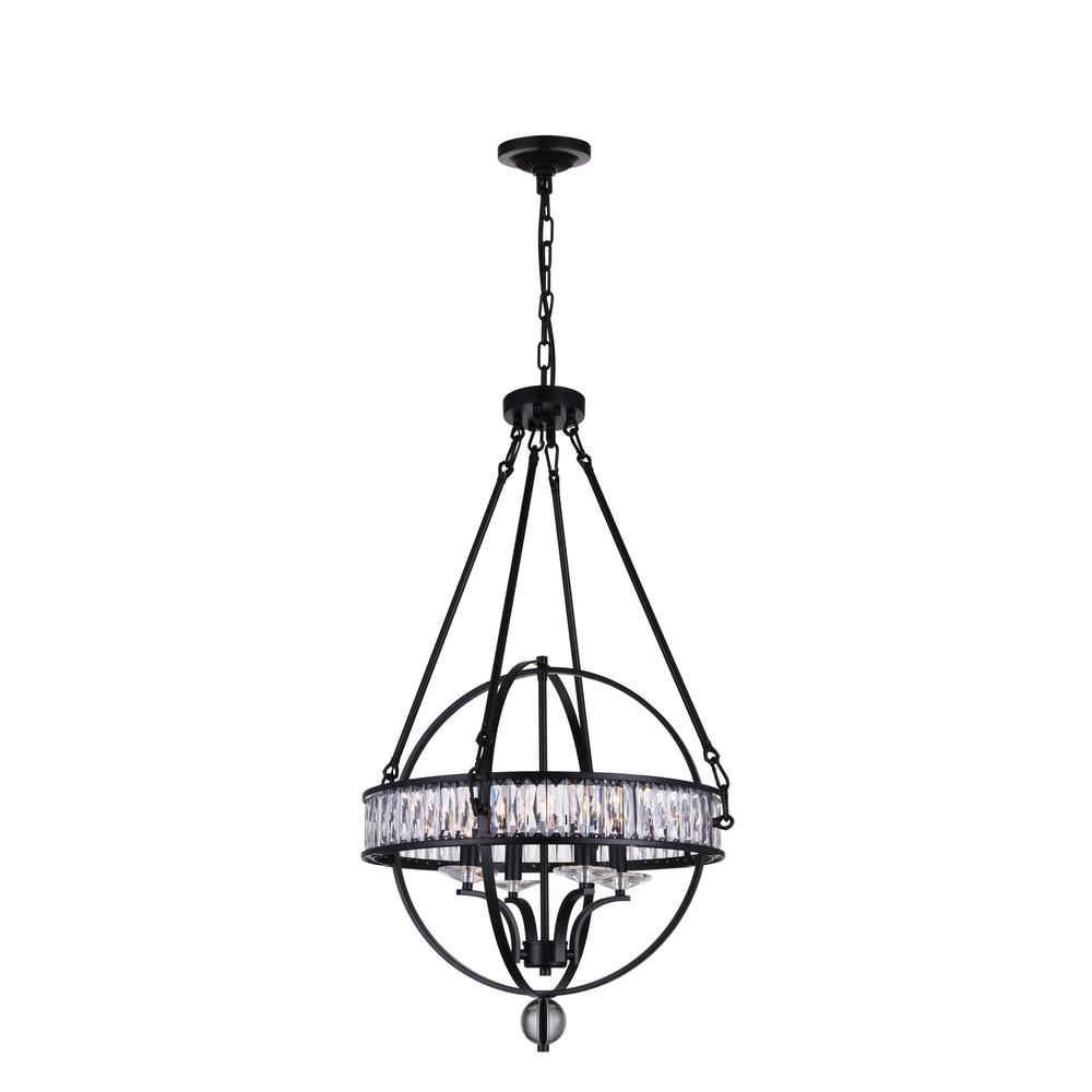 Cwi lighting arkansas 6 light black chandelier