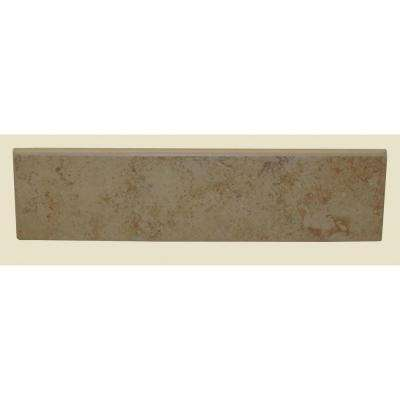 Brixton Sand 3 in. x 12 in. Glazed Ceramic Surface Bullnose Wall Tile