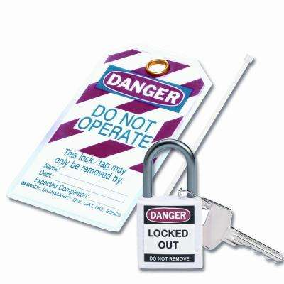 Compact Safety Padlock Kit - White