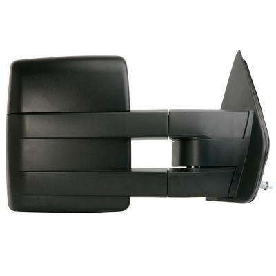 Towing Mirror for 09-12 Ford F150 Extendable Towing Mirror Textured Black Foldaway Passenger Side Manual