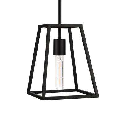 Rhom 1-Light Nickel Framed Pendant